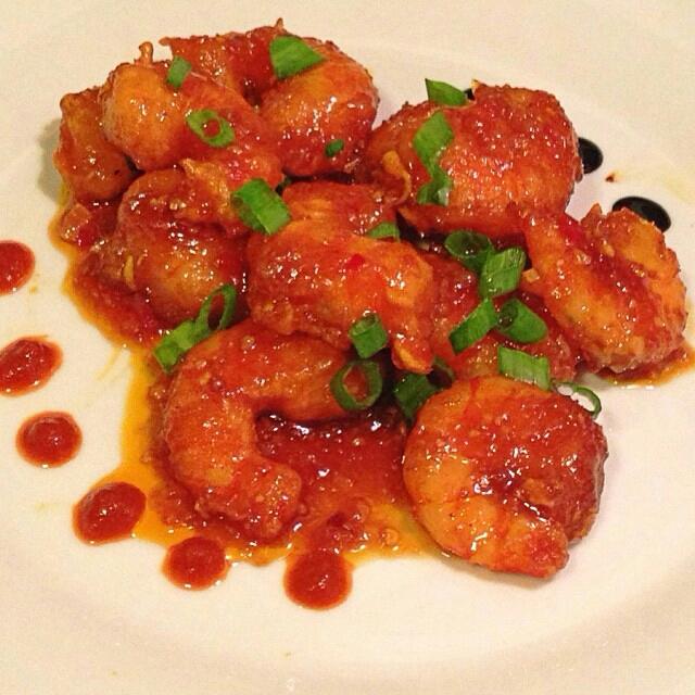 Camarones con Mermelada de Tomate