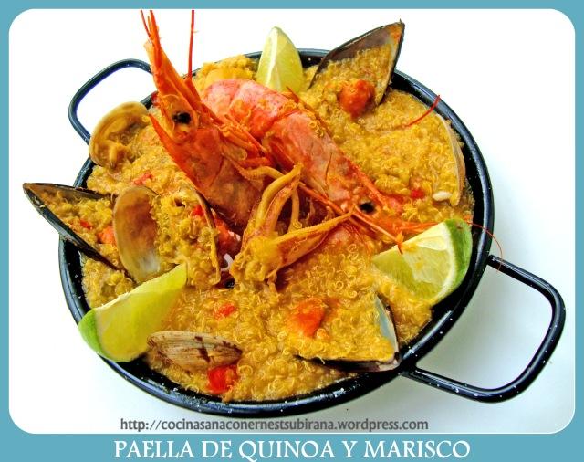 Paella de Quinoa y Marisco
